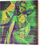 Adele Mara - 1940s Pin Up Wood Print