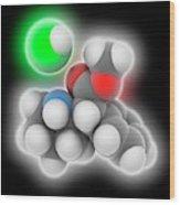 Adhd Drug Molecule Wood Print