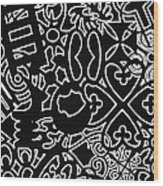 Adinkra Splash Wood Print