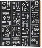 Adinkraglyphics Wood Print