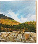 Adirondack Autumn Wood Print