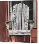 Adirondack Chair Wood Print