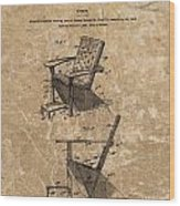 Adirondack Chair Patent Wood Print