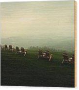Adirondack Chairs Wood Print