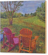 Adirondack Chairs In Leiper's Fork Wood Print