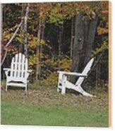Adirondack Foliage Wood Print