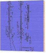 Adjustable Shotgun Choke Control Patent Wood Print