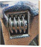 Adjustable Wrench Wood Print