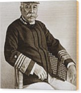 Admiral Of The Navy George Dewey Seen In 1899 On The Uss Olympia Wood Print