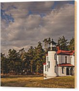 Admiralty Head Lighthouse Wood Print