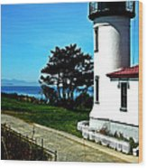 Admiralty Head Lighthouse View  Wood Print