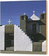 Adobe Church Taos Wood Print