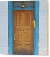 Adobe House Door Wood Print