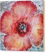 Adobe Poppy Wood Print