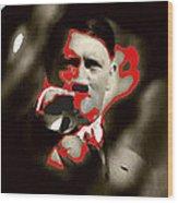 Adolf Hitler Saluting Screen Capture From Newsreel No Date-2008 Wood Print