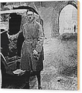 Adolf Hitler Shortly After His Release From Prison With A Mercedes 1924 - 2012 Wood Print