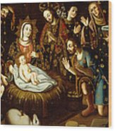 Adoration Of The Sheperds Wood Print