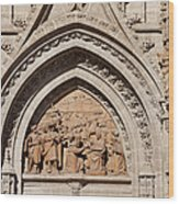 Adoration Of The Three Wise Men Relief Wood Print