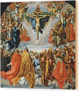 Adoration Of The Trinity  Wood Print