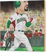 Adrian Gonzalez Team Mexico Wood Print