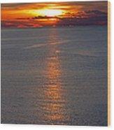 Adriatic Sunset Wood Print