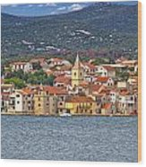 Adriatic Town Of Pirovac Waterfront Wood Print