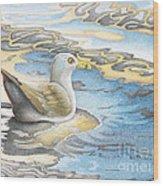 Adrift Wood Print by Wayne Hardee
