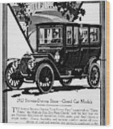 Ads Automobile, 1912 Wood Print