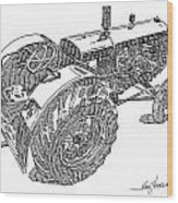 Advance Rumely Wood Print