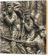 Advancing The Colors - State Of Delaware Monument Gettysburg Detail-a Autumn Mid-day Wood Print