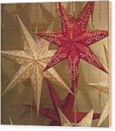 Advent Stars Wood Print