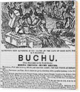 Advertisement: Buchu, 1871 Wood Print