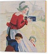 Advertisement For Chocolat Au Lait Wood Print