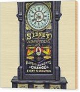 Advertising Clock Wood Print