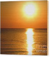 Aegean Sunset Wood Print