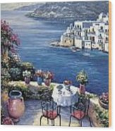 Aegean Vista Wood Print by John Zaccheo