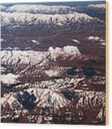 Aeial View Of The Snowy Mountains Wood Print