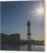 Aeri Del Port Vell Tower Wood Print