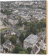 Aerial Chartres Wood Print