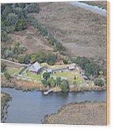 Aerial Jekyll Island Area Wood Print