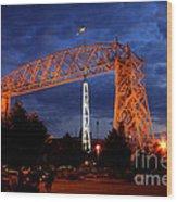 Aerial Lift Bridge Wood Print