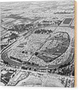 Aerial Of Indy 500 Wood Print