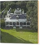 Aerial Of Jefferson Mansion Wood Print