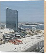 Aerial Of Revel On The Oceanfront Wood Print