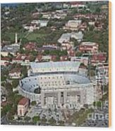 Aerial Of Tiger Stadium Wood Print