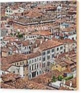 Aerial Of Venice Wood Print