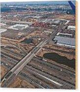 Aerial Over Newark Wood Print