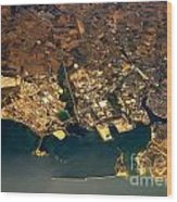 Aerial Photography - Coast Wood Print