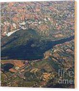 Aerial Photography - Hill Like A Big Mouse  Wood Print