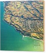 Aerial Photography - Italy Coast Wood Print